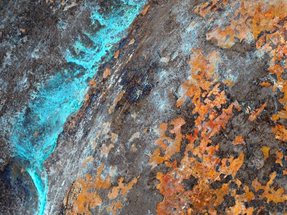 This is the rust and patina on my copper fire pit.
