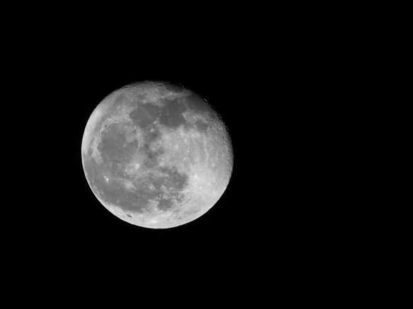 Last week's just past full moon