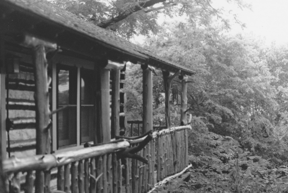 Log Cabin with Cedar Log Rails - Eureka Springs, Arkansas